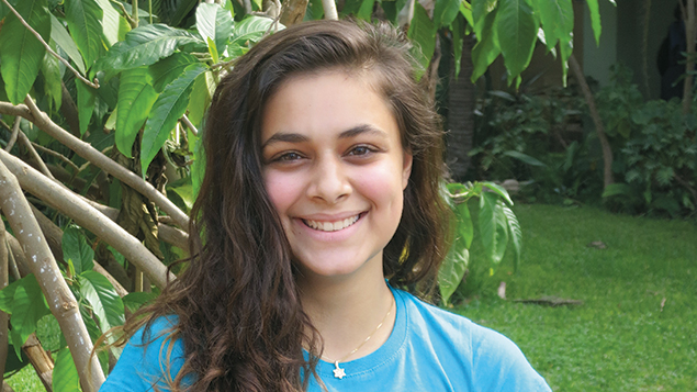 Shawn Kissil, 15, of Fair Lawn enjoys visiting her Israeli relatives while attending Mosenson.