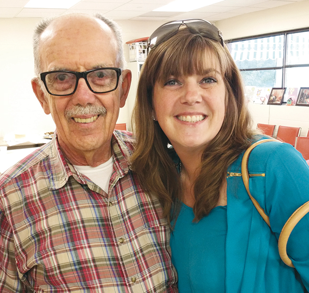 Bill Chiappane, standing here with his daughter Jennifer Chiappane Marion, goes to the JCC's day-care program.