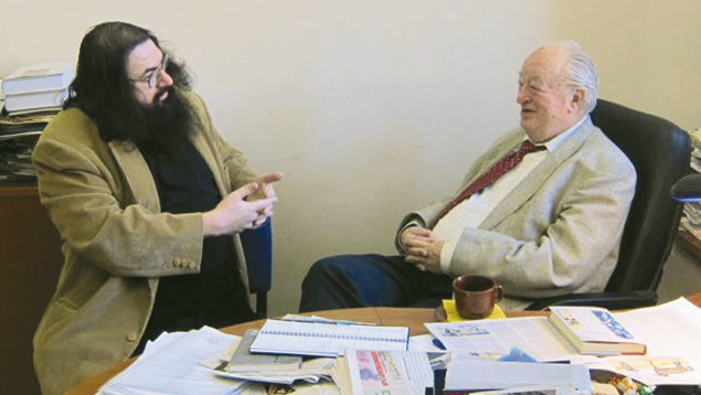 Dovid Katz and Shimon Alperovich, head of the Jewish community in Lithuania.