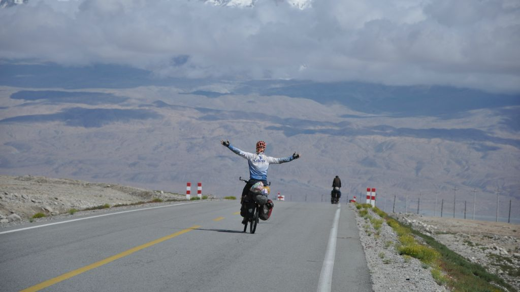 Sadan biked 66,000 km through 42 countries over five years on his round-the-world journey. (courtesy Roei Sadan)