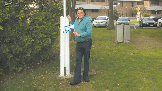 Steven Goldberg at the Clifton flagpole