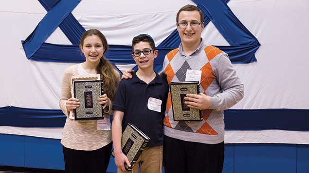 The three Hebrew division winners are all from Bergen County: Nechama Reichman of Englewood and Uriel Simpson and Shlomi Helfgot of Teaneck.