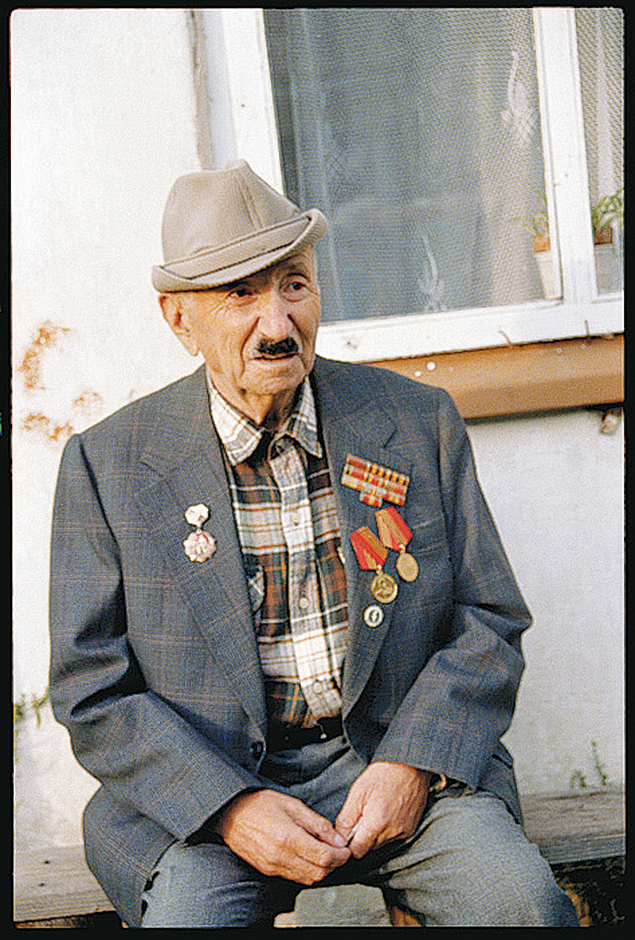 Ziska Shapiro of Podbrodz, Lithuania. He survived the war by fleeing to Russia in 1941 and joining the Red Army, where he worked as a barber. (Courtesy Doris Levin)