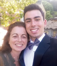 Martha Cohen with her son, Harry.