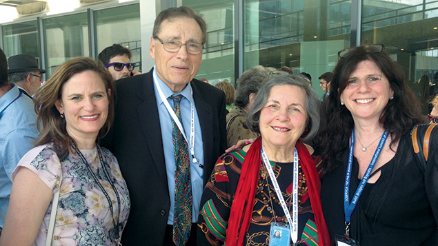 From left, JCRC director Laura Fein of Teaneck, Dr. Leonard and Ruth Cole of Ridgewood, and Melanie Gorelick of the Jewish Council for Public Affairs. All were at the U.N. meeting.
