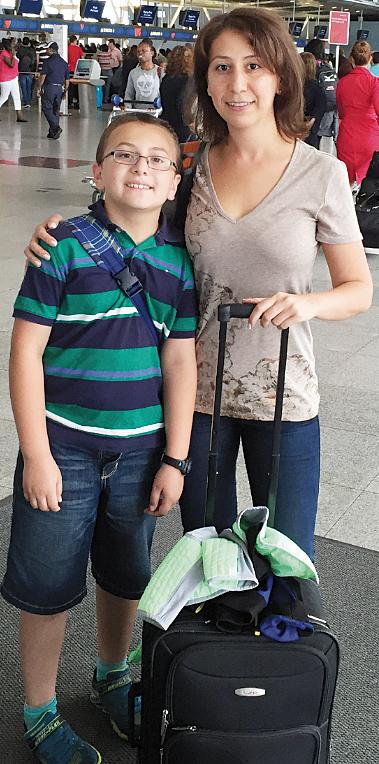 Innessa Fatakhov with her son, Alan.