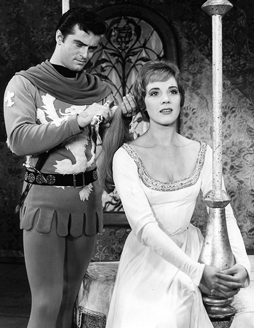 """Robert Goulet and Julie Andrews starred in """"Camelot"""" as Lancelot and Guinevere — or are they King David and Bathsheva?"""