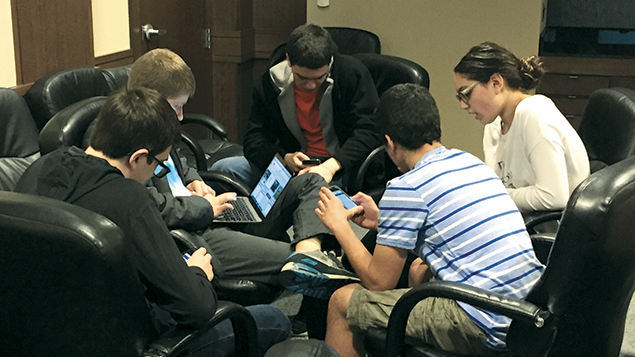 Teenagers unleash their creative prowess at an Eitanim meeting in Tenafly.