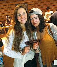 Eve Litvak, left, and Pauline Loulier of France, a UC Berkeley student, relax on the Meor trip.