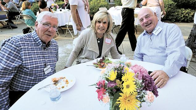 Board members Howard and Anita Blatt, left, with the Jewish Home at Rockleigh's treasurer, Joe Klyde.