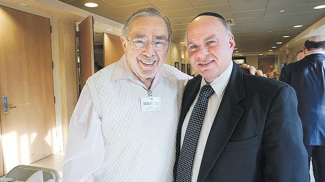 Board member, Rabbi Marvin Eiseman, left, and Jewish Home at Rockleigh's chaplain Rabbi Simon Feld.