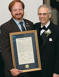 Passaic County Freeholder John W. Bartlett with the cantor.