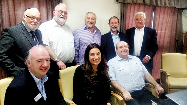 British lawmaker Luciana Berger meets with members of the Jewish Representative Council of the Manchester area on May 8. (Courtesy of the Jewish Representative Council of Greater Manchester and Region)