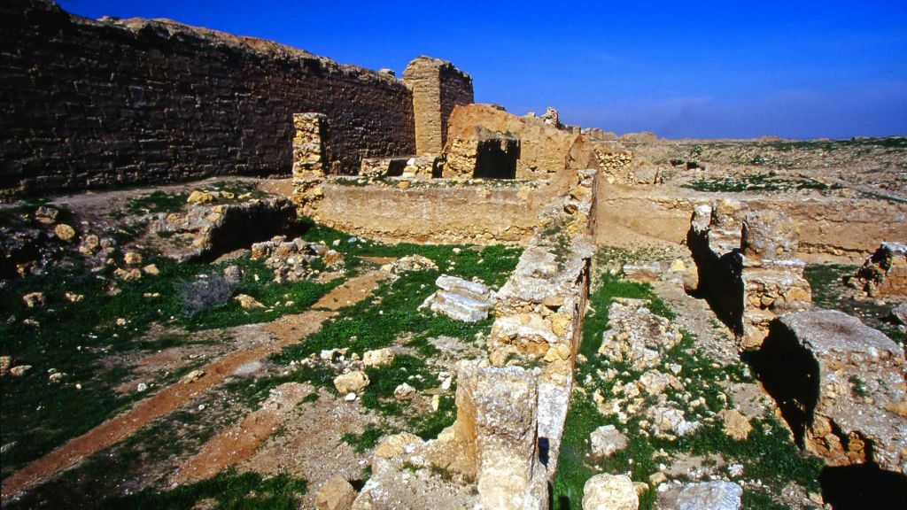 Ancient synagogue. Dura Europos, Syria in February 2003. (Courtesy Jono David)