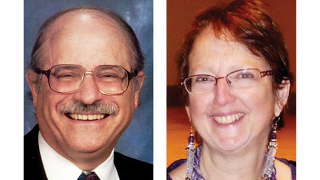 Leonard Lehrman, left, and Ellen Frankel