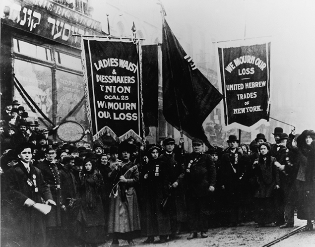 Garment workers mourn the loss of 146 colleagues in the 1911 inferno.