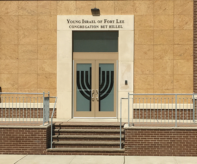 Young Israel of Fort Lee is among five synagogues in town.