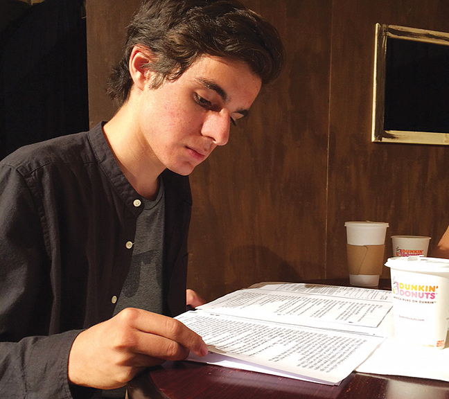 """Ariel Abergel goes over the script for """"My Name is Asher Lev."""" (James Janoff)"""