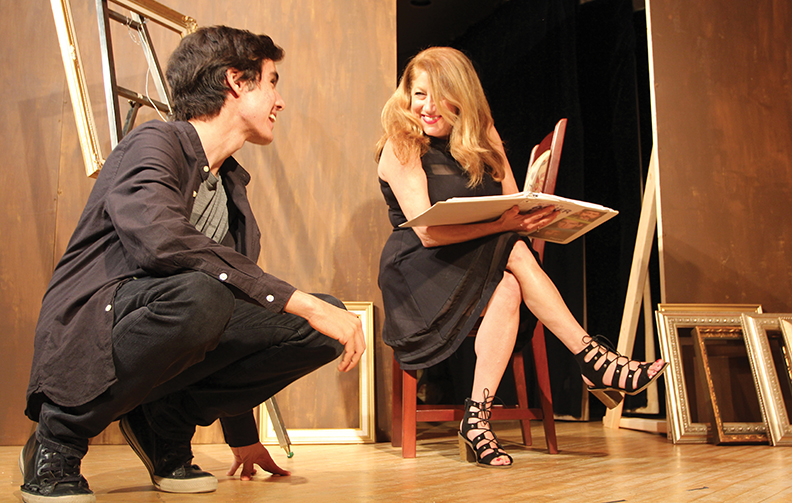 Ariel talks with the director, Marci Elyn Schein (James Janoff)