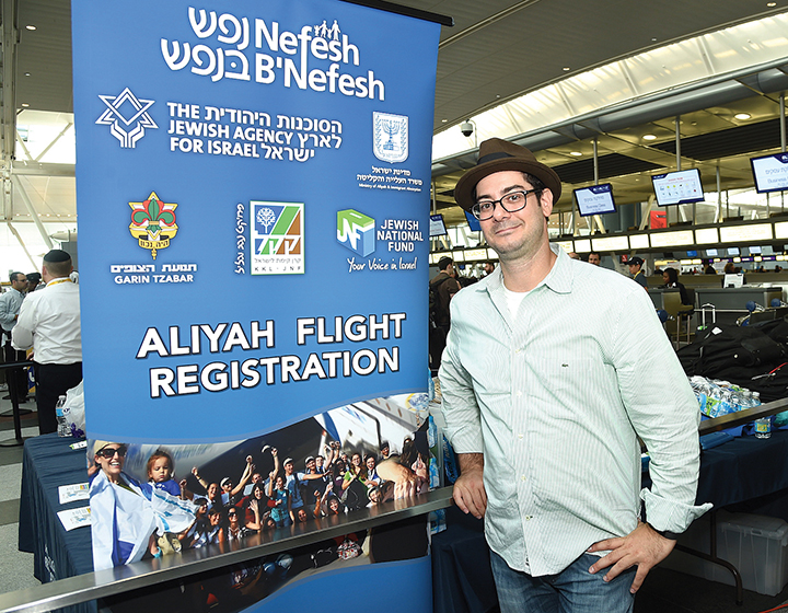 Ian Griggs, who has lived in Woodcliff Lake and Fort Lee, sets off to start his new life in Israel. (SHAHAR AZRAN)