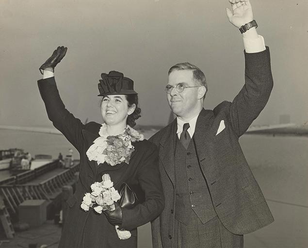 Martha and Waitstill Sharp leave New York Harbor for Prague in 1939. (Courtesy of Sharp Family Archives)
