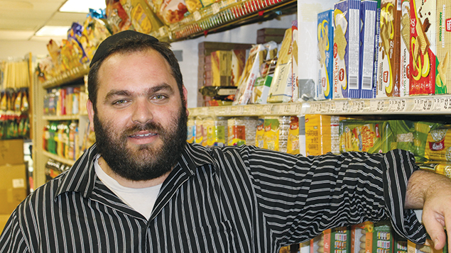 Yaakov Weiss manages a kosher grocery store and works at an adjacent sushi bar on Elmora Avenue in Elizabeth, a few blocks from where Ahmad Khan Rahami's family had their restaurant. (Photos By Ben Sales)