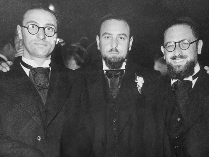 The Swift brothers — from left, rabbis Isaac, later of Englewood; the author's grandfather, Harris, and Maurice.
