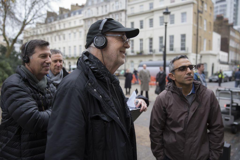 On the film set of 'Denial,' outside London's High Court. (Laurie Sparham/Bleecker Street)