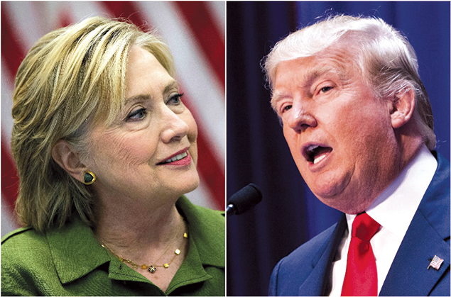 Hillary Clinton and Donald Trump  (Clinton photo: Drew Angerer; Trump photo: (Christopher Gregory/both Getty Images)