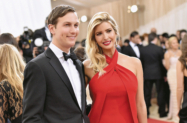 Jared Kushner and his wife, Ivanka Trump, at a gala at the Metropolitan Museum of Art in Manhattan on May 2. (Mike Coppola/Getty Images for People.com)