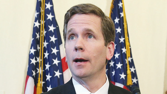 Representative Bob Dold at a news conference on Capitol Hill in March 2015. (Chip Somodevilla/Getty Images)