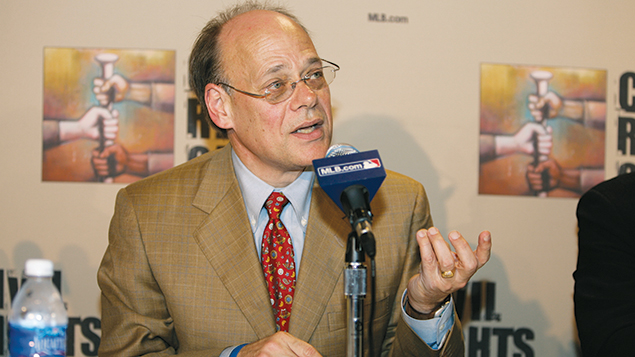 Steve Cohen is at the Baseball and the Civil Rights Movement Roundtable Discussion at the National Civil Rights Museum in Memphis, Tenn., on March 30, 2007. (Rich Pilling/MLB Photos via Getty Images)
