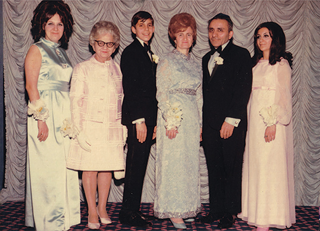 A young Jake Ehrenreich, with family members.