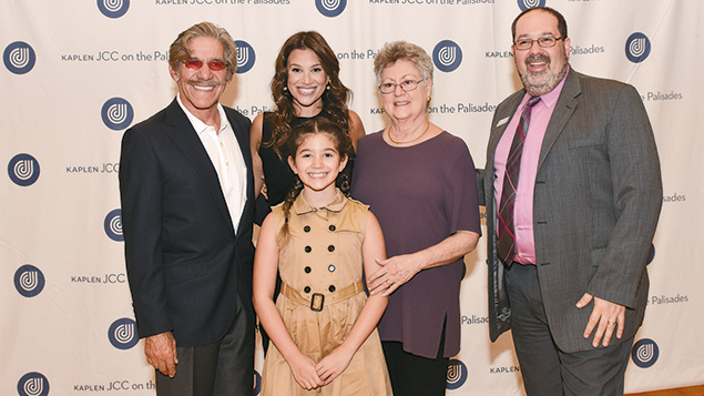 Geraldo Rivera, gala co-chair Erica Rivera, Lois Mendelson, Jordan Shenker, and Sol Rivera, in the front. Sol is Geraldo and Erica's daughter, who spoke at the event.