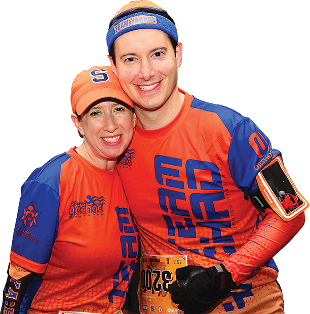Chani and Daniel Herrmann run marathons to raise funds for Yachad.