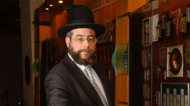 Le rabbin Pinchas Goldschmidt, grand rabbin de Moscou. (Crédit : Flash90)