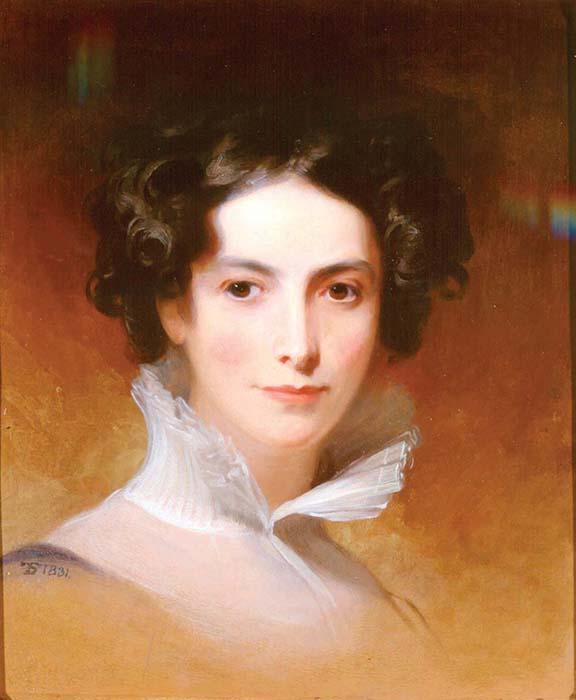 "This 1831 portrait is of pioneering philanthropist Rebecca Gratz, the model for Rebecca in ""Ivanhoe."""