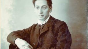 """""""God of Vengeance"""" playwright Sholem Asch, photographed in 1906."""