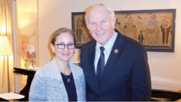 Dr. Laurie Baumel and Representative Steve Chabot