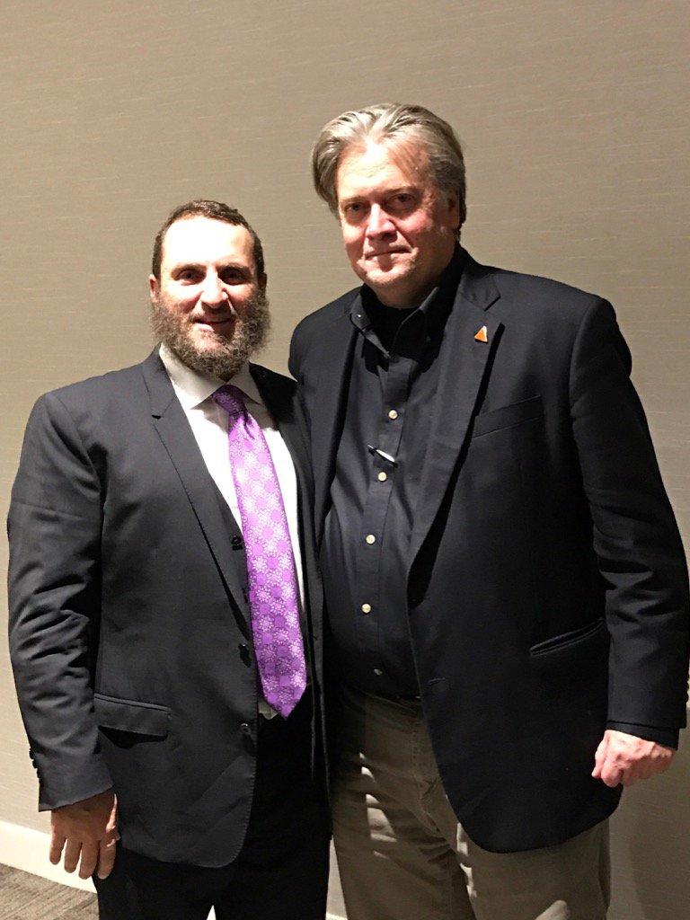 Rabbi Shmuley Boteach and Steve Bannon