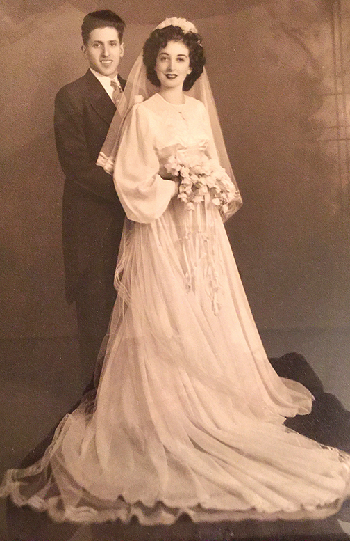 Max and Manya on their wedding day.