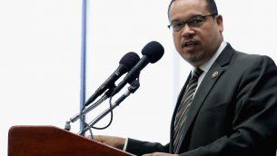 Rep. Keith Ellison at a news conference at the National Press Club in Washington, D.C., May 24, 2016. JTA