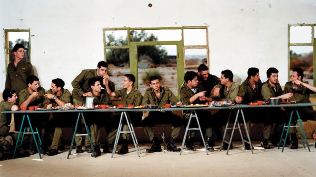 """Adi Nes' """"Untitled (Last Supper"""" is part of the """"Behold the Man: Jesus in Israeli Art"""" show at the Israel Museum. Courtesy of Israel Museum"""