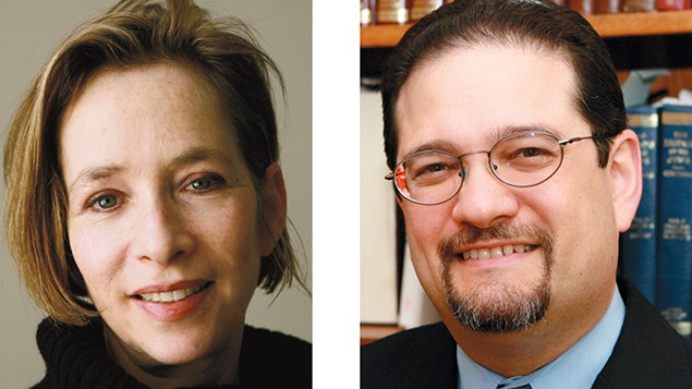 Cantor Nitza Shamah, left, and Cantor Jordan Millstein
