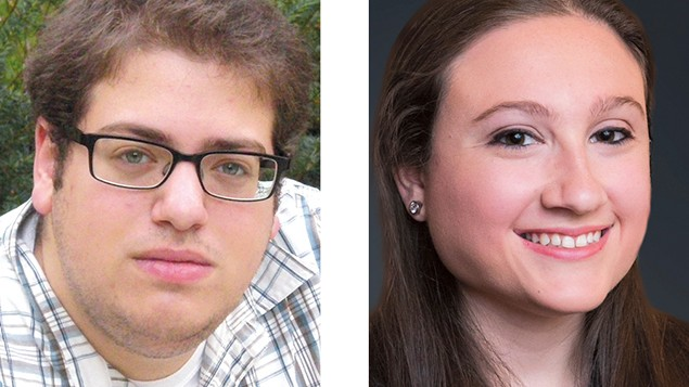 Eric Leiderman of Englewood and Meredith Brooks of Kearny. Both are active in Masorti on Campus.
