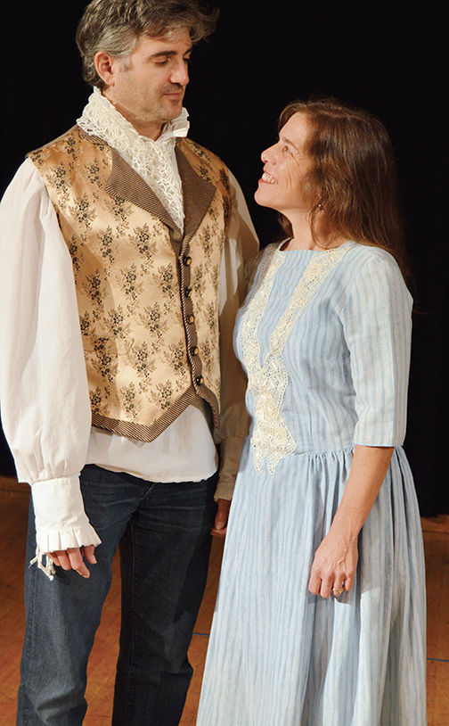 "Doug Chitel and Susan Vardy play John and Abigail Adams in the Palisades Players' version of ""1776."""