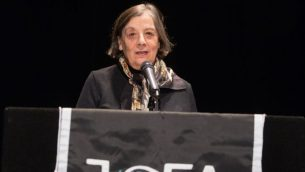 JOFA founder Blu Greenberg addresses an audience of 1200 at the 20th annual JOFA Conference. Courtesy of JOFA