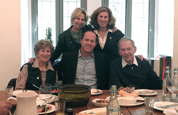 Members of the Kirsh family with Jerusalem Mayor Nir Barkat. Courtesy of UJA-Federation of New York