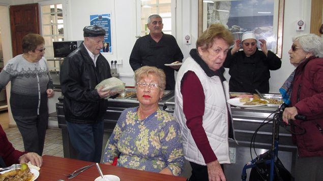 The Haifa Home for Holocaust Survivors provides hot meals to Israel's most vulnerable Holocaust survivors. The home is a joint project of the International Christian Embassy Jerusalem and an Israeli charity organization. RNS photo by Michele Chabin