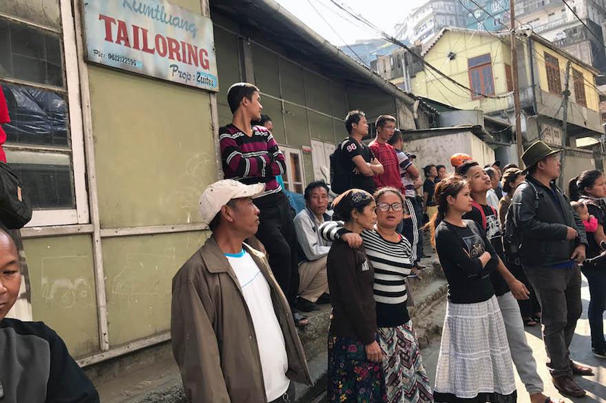 "Members of the ""Bnei Menashe"" Jewish community in Aizawl, the capital of Mizoram, India, Feb. 12, 2017. (Shavei Israel)"